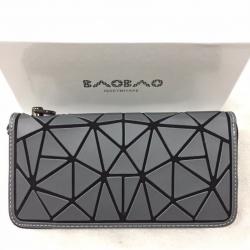 กระเป๋าตัง กระเป๋าเงินผู้หญิง งานปั้มLOGO baobao style แบบฝาพับ [สีเทา ]