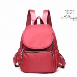 พร้อมส่ง กระเป๋าเป้ผ้าไนล่อนสไตล์ญี่ปุ่น-1021 [สีแดง]