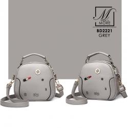 กระเป๋าสะพายกระเป๋าถือ แฟชั่นนำเข้าทรงสวย แบรนด์ BEIBAOBAO แท้ BD2221-GRY (สีเทา)