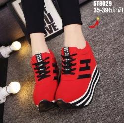 รองเท้าผ้าใบสีแดง ST8029-RED