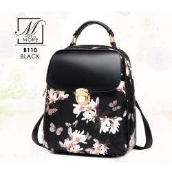 กระเป๋าเป้แฟชั่นนำเข้าแบบสุดหวาน B110-BLK (สีดำ)