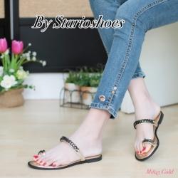 พร้อมส่ง รองเท้าแตะผู้หญิง M1843-GLD [สีทอง]