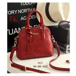 กระเป๋าถือ กระเป๋าสะพายข้างผู้หญิง แบรนด์ Baibaobao ประดับอะไหล่โลโก้สีทอง [สีแดง ]
