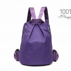 พร้อมส่ง กระเป๋าเป้ผ้าไนล่อนสไตล์ญี่ปุ่น - 1001 [สีม่วง]