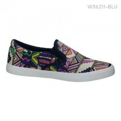 พร้อมส่ง รองเท้าผ้าใบแฟชั่น WS6211-BLU [สีน้ำเงิน]