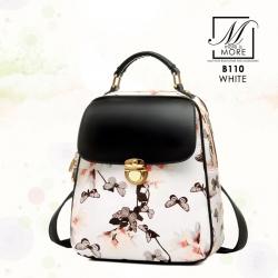 กระเป๋าเป้แฟชั่นนำเข้าแบบสุดหวาน B110-WHT (สีขาว)