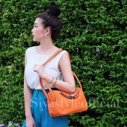 กระเป๋าสะพายแฟชั่น กระเป๋าสะพายข้างผู้หญิง Lindy 26 cm [สีส้ม]