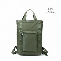 พร้อมส่ง กระเป๋าเป้ผ้าไนล่อนใบใหญ่ - 1050 [สีเขียว]