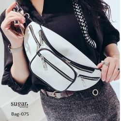 กระเป๋าคาดอก หรือคาดเอวดีไซน์สุดเท่ห์ BAG-075-ขาว (สีขาว)