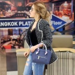 กระเป๋าสะพายแฟชั่น กระเป๋าสะพายข้างผู้หญิง ซีลีนคลาสสิค (CELINE CLASSIC) อะไหล่ทอง [สีกรม]
