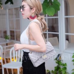 กระเป๋าสะพายแฟชั่น กระเป๋าสะพายข้างผู้หญิง CN classic [สีเทา]