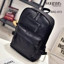 แบบมาใหม่ กระเป๋าเป้ผู้ชายหนัง pu BAG-072-ดำ (สีดำ)