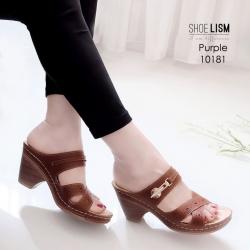 รองเท้าเพื่อสุขภาพสีม่วง งานชู-ลิ-ซึ่ LB-10181-ม่วง