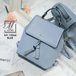 หระเป๋าเป้แฟชั่นนำเข้าสไตล์สาวเกาหลี AX-12266-BLU (สีน้ำเงิน)
