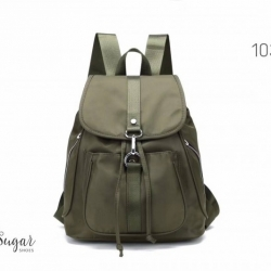 พร้อมส่ง กระเป๋าเป้ผู้หญิงผ้าไนล่อน-1038 [สีเขียว]
