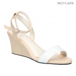 พร้อมส่ง รองเท้าส้นเตารีดแฟชั่น WC71-APR [สีแอปริคอท]