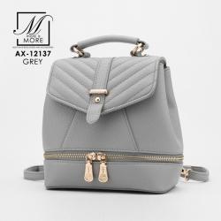 กระเป๋าเป้แฟชั่นนำเข้าสไตล์คุณหนู แบบขายดี๊ดี AX-12137-GRY (สีเทา)