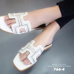 พร้อมส่ง Hermes sandal 766-4-WHI [สีขาว]