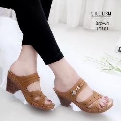 รองเท้าเพื่อสุขภาพสีน้ำตาล งานชู-ลิ-ซึ่ LB-10181-น้ำตาล