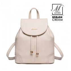 กระเป๋าสะพายเป้กระเป๋าถือ เป้แฟชั่นนำเข้า B08684-CRM (สีครีม)