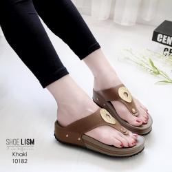 รองเท้าสุขภาพสีกากี พื้นนุ่ม LB-10182-กากี