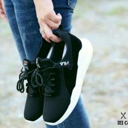 พร้อมส่ง รองเท้าผ้าใบ Style Fila G-1305-BLK [สีดำ]