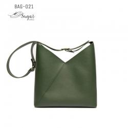 พร้อมส่ง กระเป๋าสะพายไหล่ผู้หญิง-BAG-021 [สีเขียว]