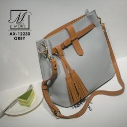 กระเป๋าสะพายกระเป๋าถือ แฟชั่นนำเข้าดีไซน์เรียบโก้ AX-12230-GRY (สีเทา)