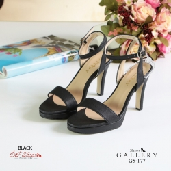 พร้อมส่ง รองเท้าส้นสูงรัดส้นสีดำ เปิดหน้าเท้า แฟชั่นเกาหลี แฟชั่นเกาหลี [สีดำ ]