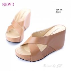 พร้อมส่ง รองเท้าลำลอง แบบสวม 981-88C6-BWN [สีน้ำตาล]