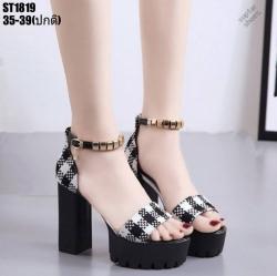 รองเท้าหุ้มส้นรัดข้อสีดำ รองเท้าหุ้มส้นรัดข้อสูง4.5นิ้ว