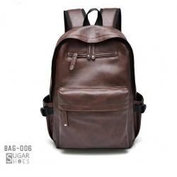 พร้อมส่ง กระเป๋าเป้หนังผู้ชาย- BAG-006 [สีน้ำตาล]