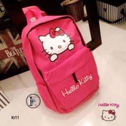 กระเป๋าเป้ผู้หญิง กระเปาสะพายหลังแฟชั่น ผ้าร่ม Style Hello Kitty [สีแดง ]