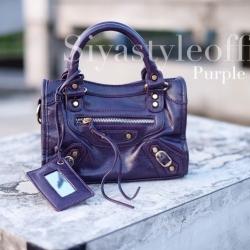 กระเป๋าสะพายแฟชั่น กระเป๋าสะพายข้างผู้หญิง City mini bag [สีม่วง]