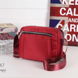 พร้อมส่ง กระเป๋าสะพาย Crossbody สไตล์ญี่ปุ่น-1047 [สีแดง]