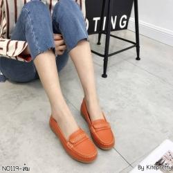 พร้อมส่ง รองเท้าคัทชูส้นเตี้ย N0119D4-ORA [สีส้ม]