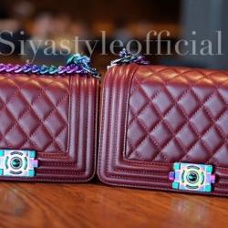 กระเป๋าสะพายแฟชั่น กระเป๋าสะพายข้างผู้หญิง CN RAINBOW 8 Inch [สีแดง]