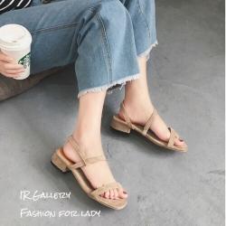รองเท้าแตะ2สายรัดส้น 1173-ครีม (สีครีม)