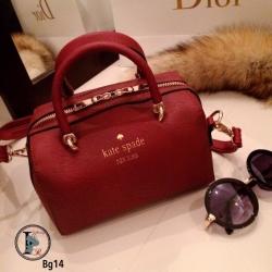กระเป๋าสะพายแฟชั่น กระเปาสะพายข้างผู้หญิง หนังพรีเมี่ยมคุณภาพดี Style Kate Spade [สีแดง ]