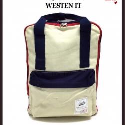 กระเป๋าเป้ผู้หญิง กระเป๋าสะพายหลังแฟชั่น Style Anello ขายที่สุดในญี่ปุ่น [สีครีม ]