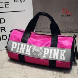 กระเป๋าแฟชั่นนำเข้า ด้านหน้าสกรีน PINK BAI-276-PNK (สีชมพู)