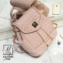 กระเป๋าสะพายเป้กระเป๋าถือ เป้แฟชั่นนำเข้าสุดน่ารัก AX-12285-PNK (สีชมพู)