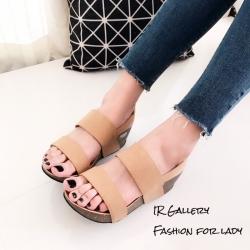 รองเท้าส้นเตารีด2สายรัดส้น 960-17-TAN (สีแทน)