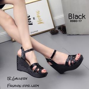 รองเท้าเตารีดรัดข้อ 8980-17-ดำ (สีดำ)