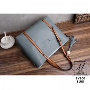 กระเป๋าสะพายกระเป๋าถือ แบรนด์ BEIBAOBAO แท้ ใบใหญ่ใส่ของจุใจ BV800-BLU (สีน้ำเงิน)