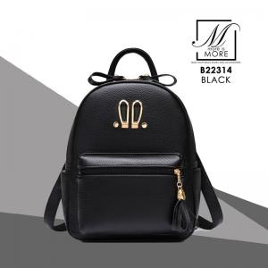 กระเป๋าสะพายเป้กระเป๋าถือ เป้แฟชั่นนำเข้าดีไซน์สุด cute B22314-BLK (สีดำ)