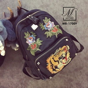 กระเป๋าสะพายเป้กระเป๋าถือ เป้แฟชั่นงานนำเข้าทรงเก๋ส์สไตล์แบรนด์ดัง MB-17009-BLK (สีดำ)