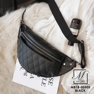 กระเป๋าสะพายกระเป๋าคาดเอวกระเป๋าคาดอก แบบคาดอกงานนำเข้าสุดเก๋ส์ MB18-00505-BLK [สีดำ]