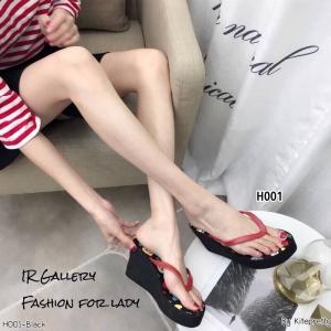 รองเท้าเตารีดคีบพอลแฟรง H001-ดำ (สีดำ)