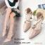 รองเท้าคัทชูสีครีม วัสดุหนังนิ่ม A869-23-ครีม thumbnail 1